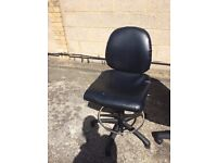 Leather chair with gas lift