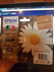 Epson T1806 Multipack 18 ink cartridges (x2) - Black, Blue, Cyan, Yellow