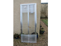 Low Height Bi-Fold Shower Doors - Brand New