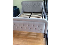 John Lewis Kingsley high end bed in upholstered luxurious design.