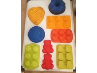 Coloured silicone candy/cake moulds