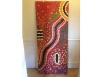 Large canvas painting- Aboriginal style design