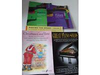 5 PIANO MUSIC BOOKS