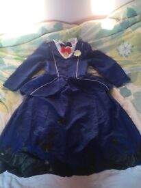 Mary Poppins fancy dress costume aged 7-8 years