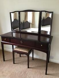 1970s Stagg dressing table with stool