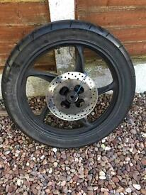 Skyjet 125cc rear wheel with tyre disc sprocket