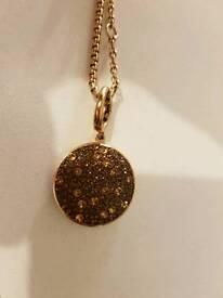 Armani's Exchange Rose Gold Pendant Chain