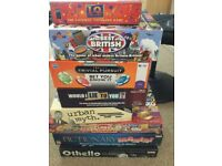 A bundle of board games