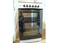 Teknix Chrome Black Freestanding Oven Grill Hob Kitchen Home Modern Excellent Condition RRP £190