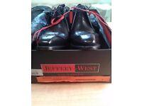 Jeffery West - Brand New - Black Polished Chukka Boot - Size 9
