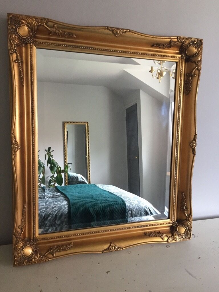 Large ornate gold mirror in west bridgford for Big gold mirror