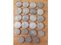 17 shillings and 6 sixpences, circa 1937 to 1945