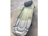 Assorted Carp fishing gear inc day bed