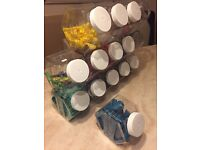 Plastic Storage jars for balloons or candy etc