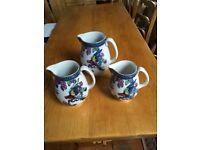 Three Losol Ware jugs.