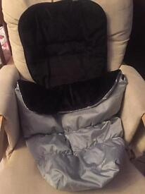 New mothercare footmuff and carrycot cover xpedior