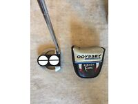Odyssey Works Versa 2 Ball Fang Putter with New Golf Pride Tour SNSR Grip