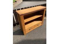 Oak Console Table - 2 Shelf, 2 drawer