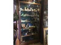 1920's Ex shop display glass cabinet. £600