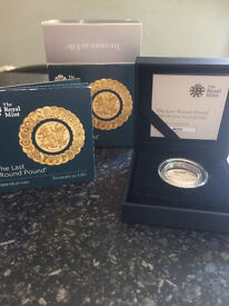 The last round pound silver proof 2016 coin mint condition certification and boxed