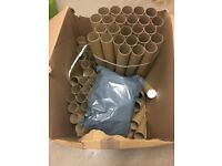 100 postage/poster tubes. A4 size with end caps