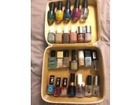 Box of 25 nail polish OPI and ESSIE included