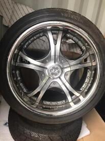 """Jap drift track 18"""" alloys tyres JZ split"""