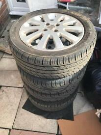 Vauxhall sxi alloys and tyres 205/50zr16""