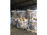 Logs/Firewood for Sale. Seasoned cubic metre bags of softwood. Free delivery to local area.