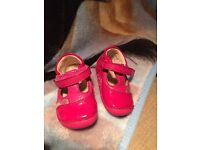Baby girls first shoes Clarkes