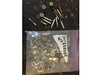 Wardrobe spare screws dowling nuts bag full plus wardrobe light all working