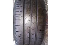 Brand new continental conti premium contact 5 tyre 185/ 65/15 on a nissan steel wheel