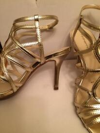 Gold heels size 5