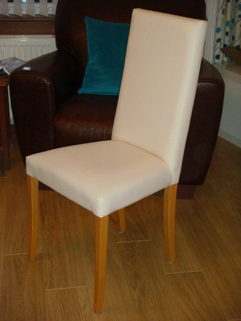 NEXT Cream Fabric Covered Diningroom Chairs With Birch Legs All In Excellent