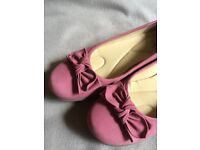 Dusky Pink Hotter comfort pumps, size 8 or 42 with cushioned inner sole, only worn couple of times