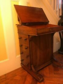 A LATE VICTORIAN OAK LEATHER TOP DAVENPORT DESK GREAT PRE-LOVED CONDITION ,FREE LOCAL DELIVERY