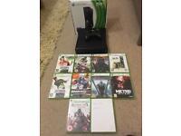Xbox 360 bundle with 10 games