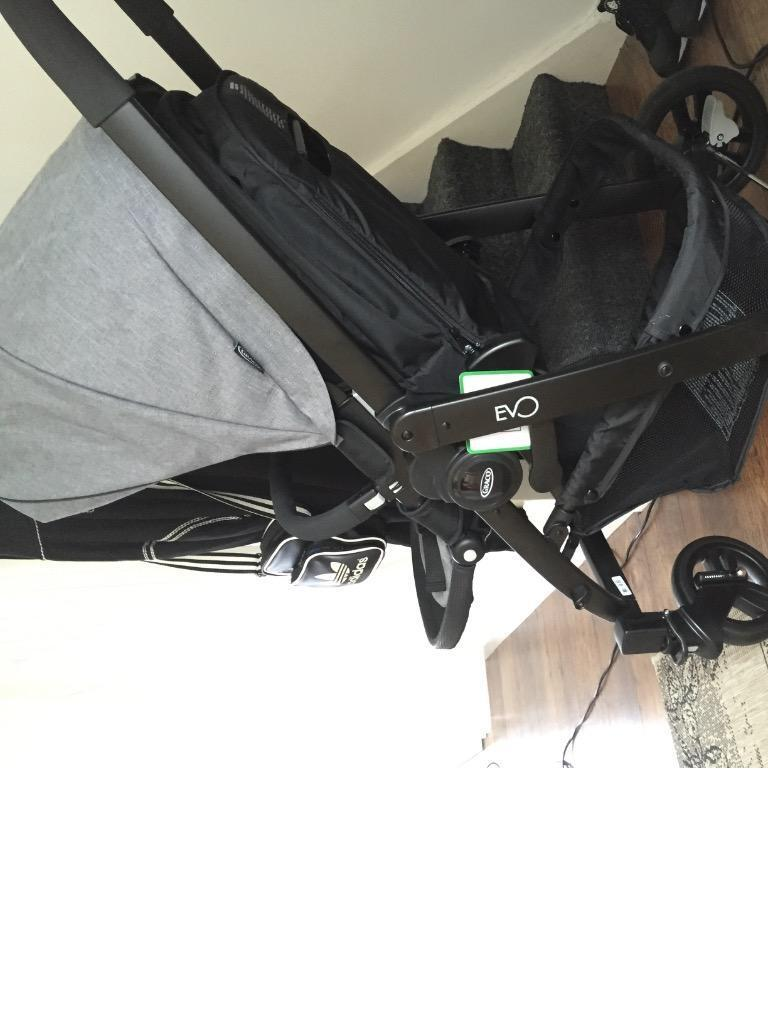 Graco Evo 3in1 Travel System Slate Grey Seat Unit Car