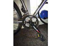 SR Suntour XCT - bike Alloy Chainsets crankset with pedals