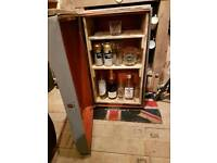 Handmade vintage trunk mini bar/cupboard