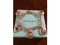 Tiffany & Co vintage sterling silver charm bracelet EXCELLENT CONDITION