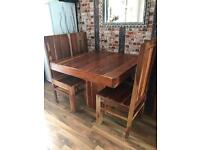 Dinning set table 4 chairs