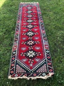 Large Handmade wool Turkish rug (Runner)
