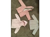 Baby girl coat and hoodie bundle - 0-3months, Little White Co and M&S