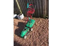 Qualcast Lawnmower and & Bosch Strimmer