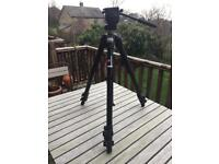 Manfrotto 055WNB Video Tripod with 12RC Head . As new.