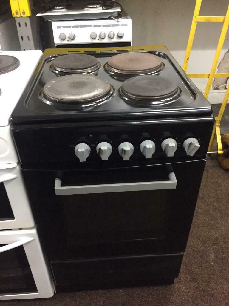 Black Good Looking 50cm Electric Cooker With Oven Grill