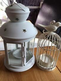 2 tealight birdcages