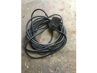 10m long industrial extension cable with 2 sockets