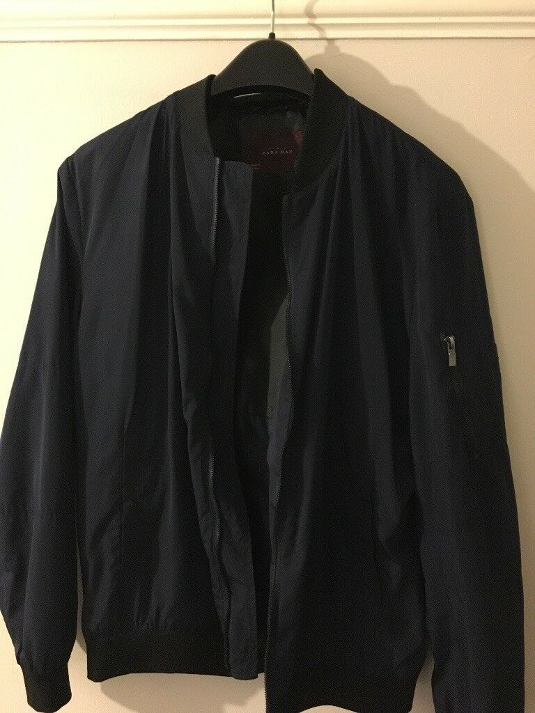 c20b0c474 Zara Bomber Jacket Navy Blue (L) | in Kings Norton, West Midlands | Gumtree